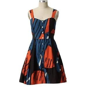 Maeve Anthropologie SZ 4 Fragmented Pipevine Dress